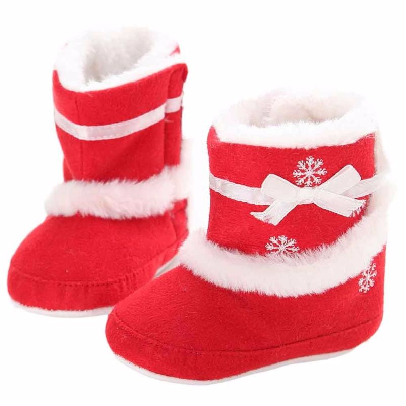 Purple red shoes for baby girls Baby boots winter Infant Soft Sole anti-slip Snow Boots Crib Shoes Toddler plush Boots Botas #JY