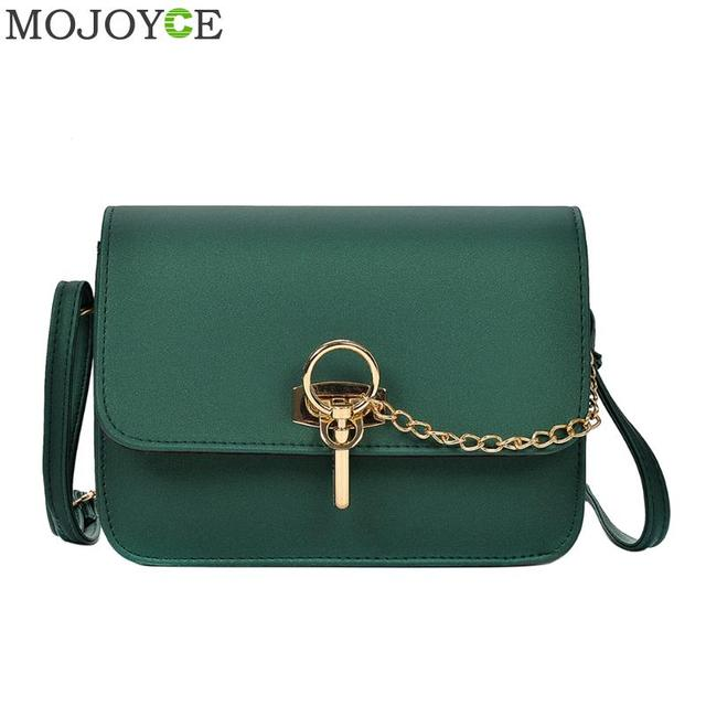 Retro Simple Long Chain Crossbody Bag For Women Pu Leather Handbags
