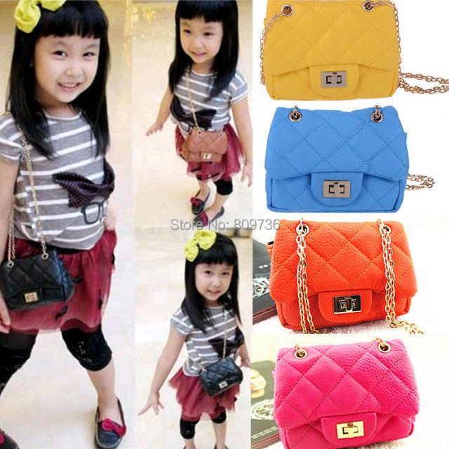 New Hot Girls Baby Toddler Metal Chain Buckle Handbag Kids Shoulder Bag  Children Crossbody Bag Purse Gift Drop Free 0c55bee63bd9