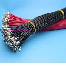 100 шт. Mciro мин 20AWG одного конца запаяны Женский штекер кабеля 20 см для DIY VH 3.96 мм разъем