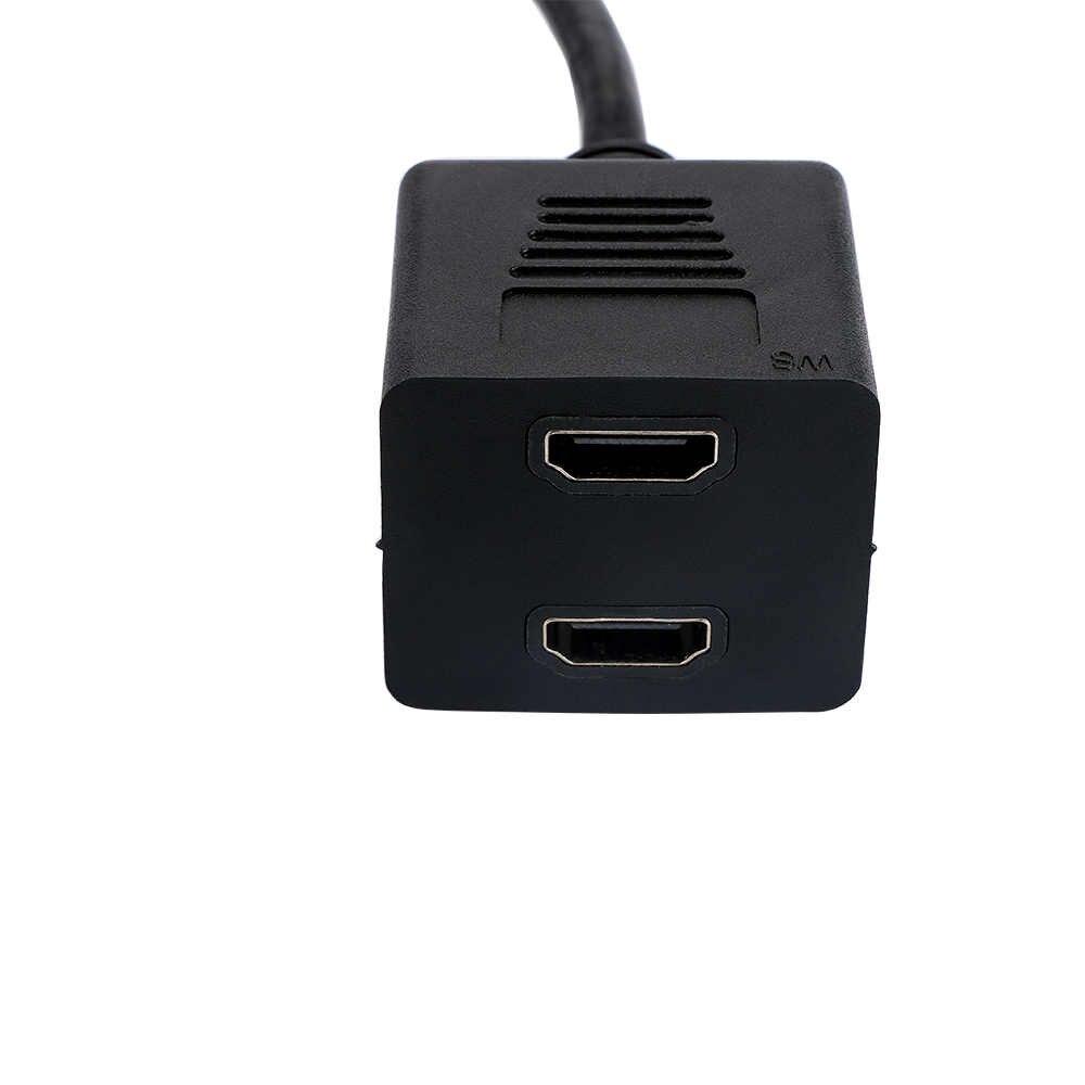 HDMI 2 entrada macho a 1 interruptor de salida hembra Y Cable de extensión adaptador de Cable para HD DVD LCD TV máquinas de juego