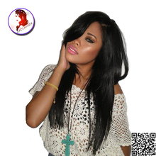 8A Full Lace Human Hair Wigs With Bangs Straigh With Baby Hair Unprocessed Brazilian Front Lace  Virgin Hair Wig For Black Women