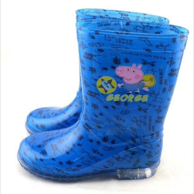 2016 Детей Милые Загрузочные Мальчики Девочки Baby Дети Конфеты Цвет С Свинья Pattern Дождь Сапоги Непромокаемую Обувь
