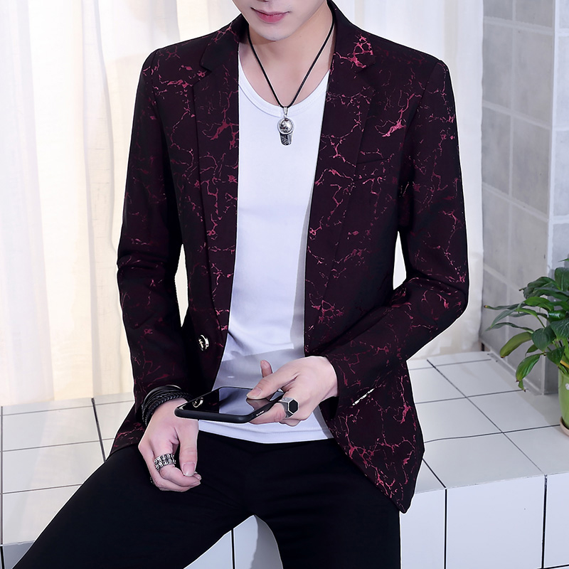 2019 spring suit jacket slim sports wedding ball single button color suit men 39 s fashion casual suit jacket large size S XXXL in Blazers from Men 39 s Clothing