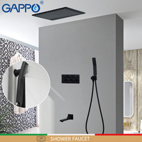 GAPPO shower faucets shower heads waterfall bathroom mixer bath mixer faucet shower black shower set bathtub faucet sets