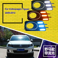 smRKE Car Light Fog Lights Daytime Running Lights LED Light Bar For Volkswagen Tiguan 2009 2012