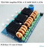 Amplifier PCBA pour 6 X 160 W ( MAX ) HIFI numérique classe D TDA7498E amplificateur de la maison de voiture Amp Audio 5.1 CHs bricolage livraison gratuite