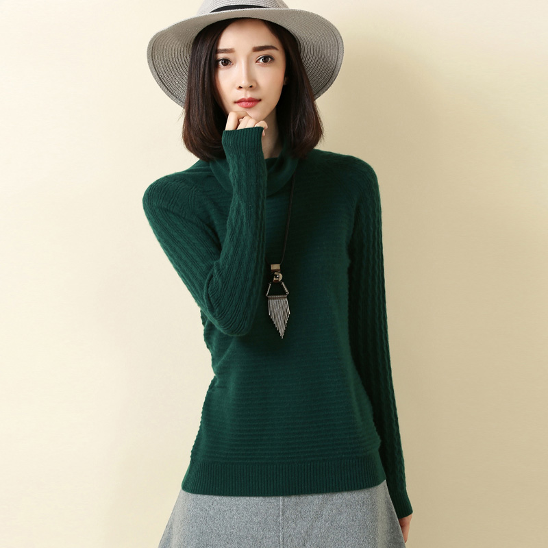 Nuevo Otoño Y El Invierno de Cuello Montones Cuenca Toque Retro Jerseys Sweater
