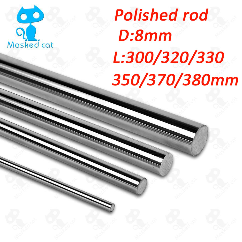 Optical Axis 300 320 330 350 370 380 mm Smooth Rods 8mm Linear Shaft Rail 3D Printers Parts Chrome Plated Guide Slide Part сетевой фильтр эра sf 5es 2m w 2м белый [c0039530]