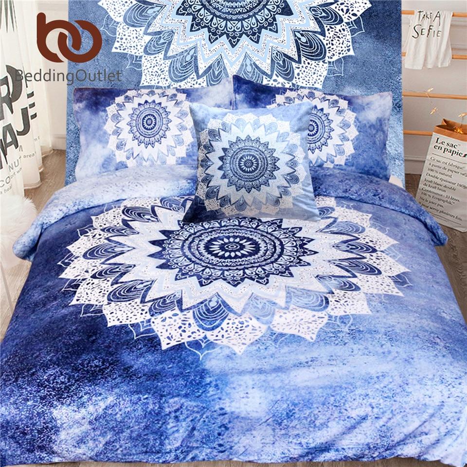 Us 39 79 40 Off Beddingoutlet 5pcs Bed In A Bag Mandala Fl Bedding Set Queen Size Bohemian Duvet Cover Luxury For Bedroom Hot