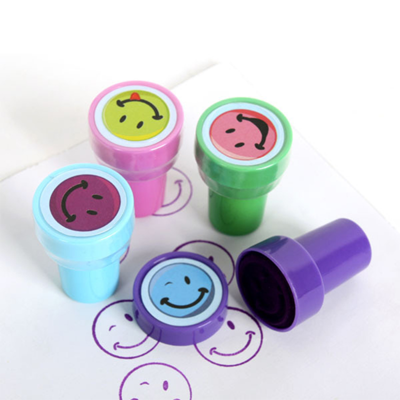 Cartoon Seal All Kinds Of Smiley Face Animal Marine Cute Stamp Toy Children Plastic Christmas Gift