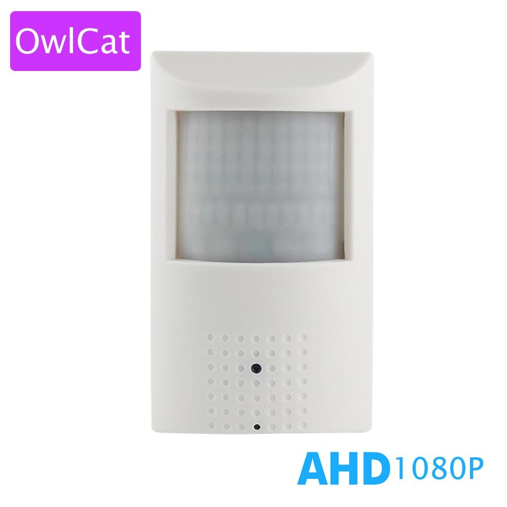 OwlCat PIR Type AHDH CCTV Video Surveillance Security AHD Camera Full HD 1080P 2.0mp Infrared IR Night Indoor AHD-H 2.8mm 3.6mm sony imx322 ahd camera ahdh 1080p full hd cctv surveillance security camera osd button