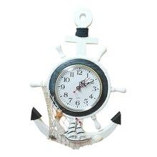 Decorative Nautical Mediterranean-Style Retro Sea Anchor Small Alarm Clock Gift