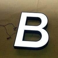 Vender Carteles de acrílico para publicidad al aire libre con marco de acero inoxidable letras 3D personalizadas