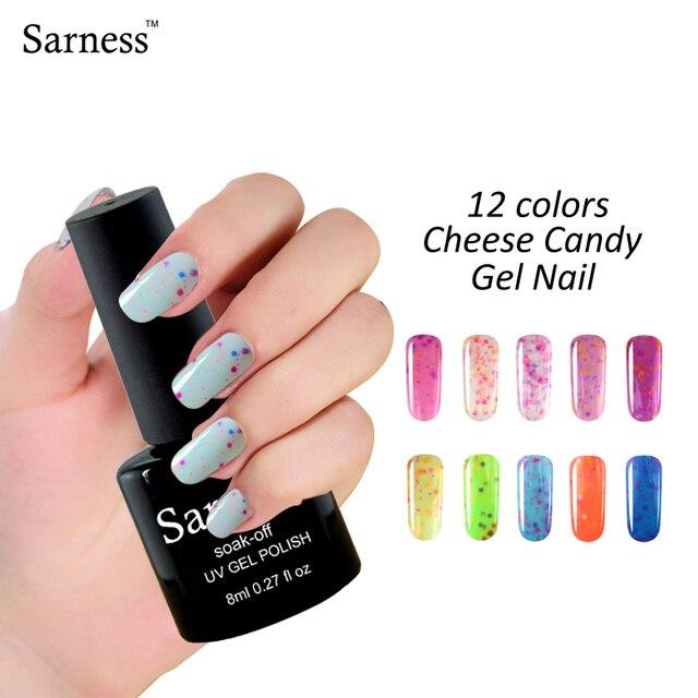 8ml brand Cheese lucky Color Gel Nail Polish UV LED Soak Off Nails ...