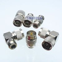 Kit Adapter 6pcs Set N To N Type Male Female RF Connector Test Converter