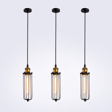 American Style Pendant lamp Dining Room  Single headed Personality Industr Lamps Decoration Indoor Lighting E27
