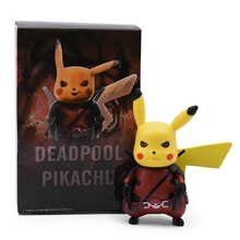2019 New Deadpool Captain America Pikachu Mini PVC Action Figure Collection Model Toys For Kids Gifts pa change star wars boba fett action figure model collection crafts ornaments kids toys gifts