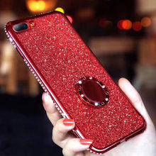 สำหรับ iPhone X XS MAX XR 6 6 S 7 8 Plus Glitter Powder Diamond สำหรับ Samsung Galaxy A5 A6 a7 A8 Plus 2017 2018 M10 M20 M30 นุ่ม(China)