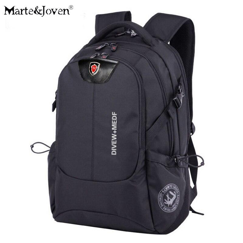 ФОТО High Quality Waterproof Black Students Laptop Backpack Famous Brand Teenagers Boy Girl School Backpacks Travel Trekking Rucksack