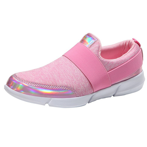 Outdoor Sports Shoes Women Hollow Round Head Flat Breathable Leisure Sports Shockproof Shoes Soft Bottom Running shoes #3J30#F Karachi