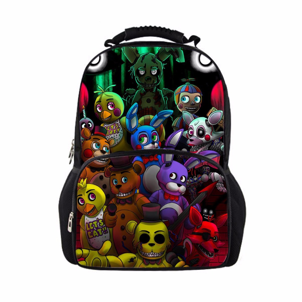 3D Five Nights at Freddys Backpacks for Teenage Boys Girls Cartoon College Laptop Travel School Bagpack for Children Kids Mochla