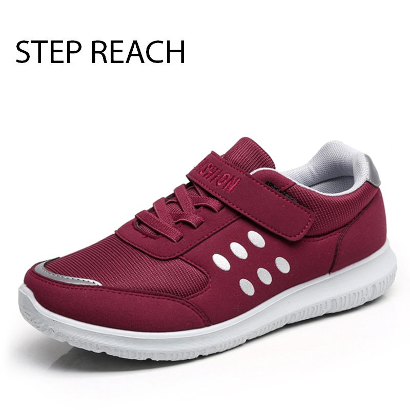 STEPREACH Brand shoes woman women flats Couples sneakers casual Breathable zapatos mujer tenis feminino chaussures femme lace-up instantarts women flats emoji face smile pattern summer air mesh beach flat shoes for youth girls mujer casual light sneakers