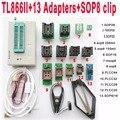 V8.11 XGecu TL866II tl866 ii Plus programador usb + 13 Adaptador + SOP8 clip 1,8 V nand flash 24 93 25 mcu Bios EPROM AVR programa