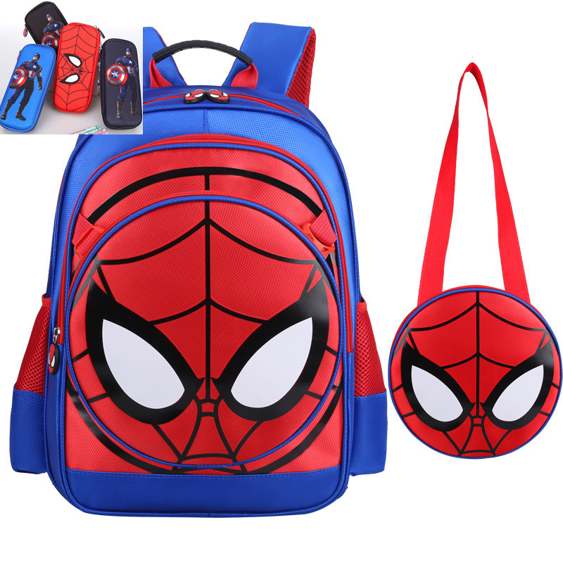 3D Spiderman Primary School Kids Backpack Children Spider Man Cartoon Kindergarten Student Boys Backpacks Daypack Mochila