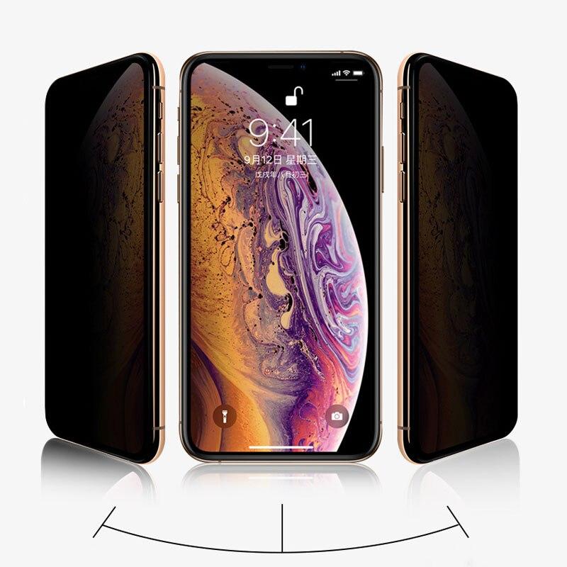 Image 2 - Full screen Anti sneak Peek Phone Film Tempered Film For Iphone 6 6s 7 8 For Iphone X XS For Iphone XSmax-in Phone Screen Protectors from Cellphones & Telecommunications