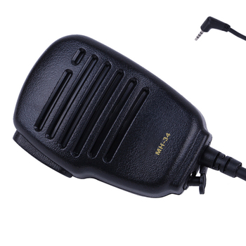 for Yaesu VX-3R FT-60R FT1DR FT2DR MH-34B4B Speaker Microphone Swivel Clip & 3.5 mm Earpiece Audio Jack Shoulder PTT Mic image