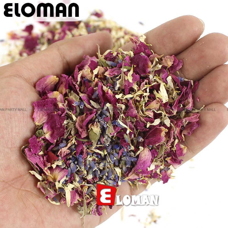 100% naturale di nozze coriandoli ELOMAN secchi petali di fiori pop di cerimonia nuziale e la decorazione del partito biodegradabile rose petal confetti