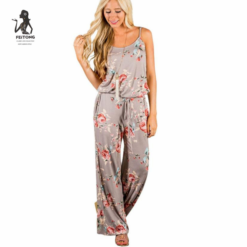 5ff3a62f9ad Simplee Sexy Womens Sleeveless Drawstring Playsuit Ladies Long Floral  Pattern jumpsuit women elegantes de fiesta LRSO-in Jumpsuits from Women s  Clothing on ...