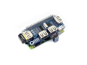 Image 4 - Waveshare USB לuart ממיר 4 יציאת USB HUB כובע עבור פטל Pi 2B/3B/3B +/ אפס/אפס W תואם עם USB2.0/1.1