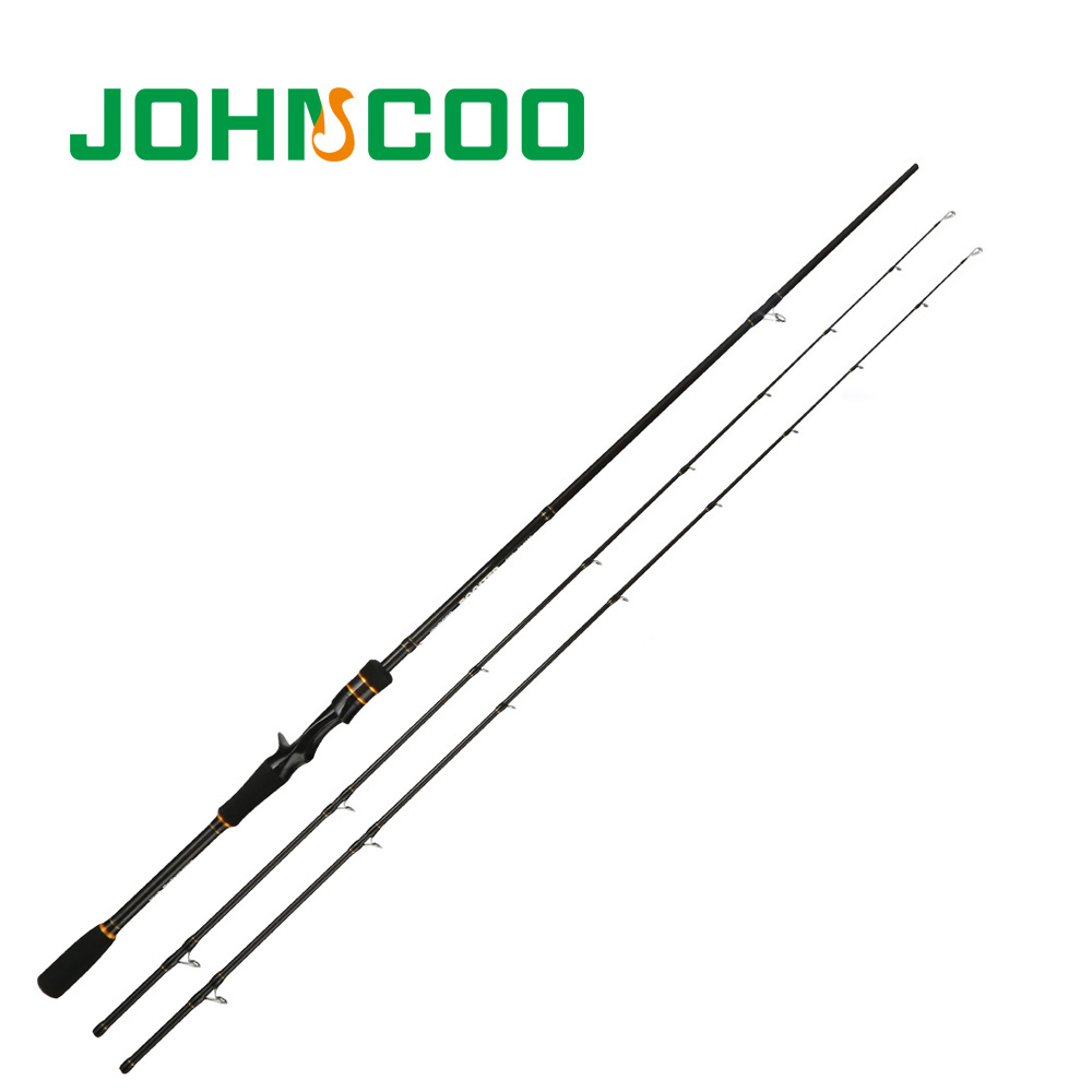 JOHNCOO 2.1m 2.4m 2tips ML/M 2Sections Carbon Spinning Fishing Rod EX-Fast Action Casting Rod Lure Fishing Rods Fishing Tackle