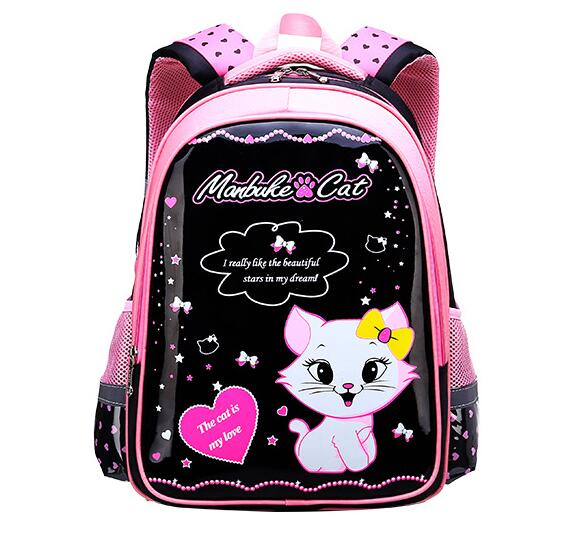 New Fashion Children Backpack School Bags For Girls Princess Cat Design Student School Backpack Kids Bag Mochila Escolar