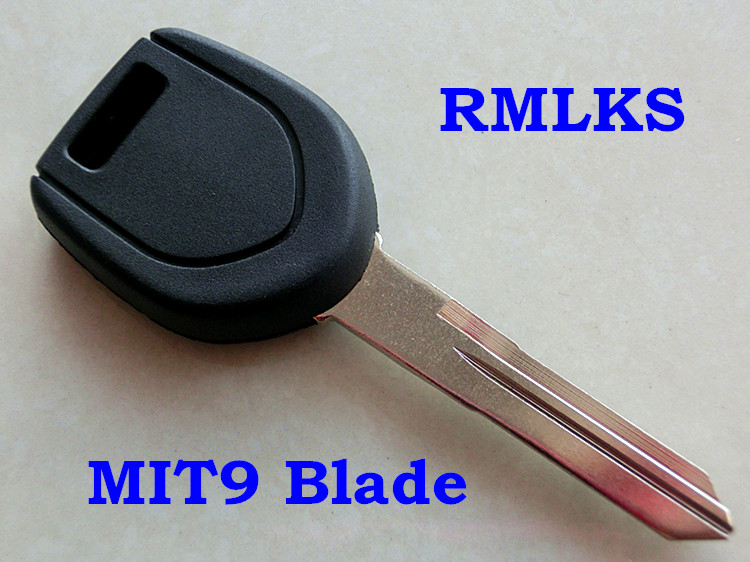 RKLMS Uncut Replacement Car Key Shell Transponder Key Fob MIT9 Blade Fit For Mitsubishi Eclipse Galant Chip Key