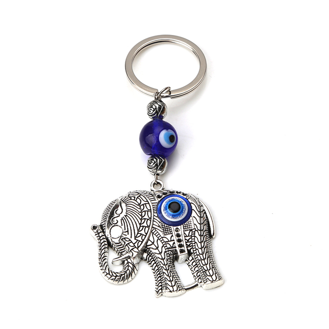 Turkey evil eye elephant hamsa hand tree life glass beads keychain key ring  charms pendant for women diy key jewelry findings-in Key Chains from  Jewelry ... ae51fef944