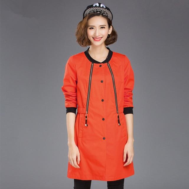 2016 women fat mm autumn  thin wild fashion style windbreaker jacket  large size for women Tops