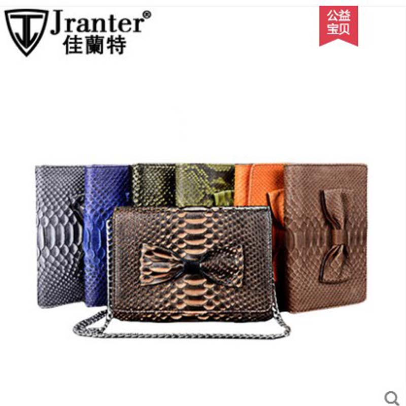 jialante 2018 new Snake Skin Python Skin women clutch bag female snake leather hand bag lady Bag Wallet card sleeve Soft gete new python leather women handbag lady real snake dinner women purse large capacity grab bag girl women cluth bag wallet