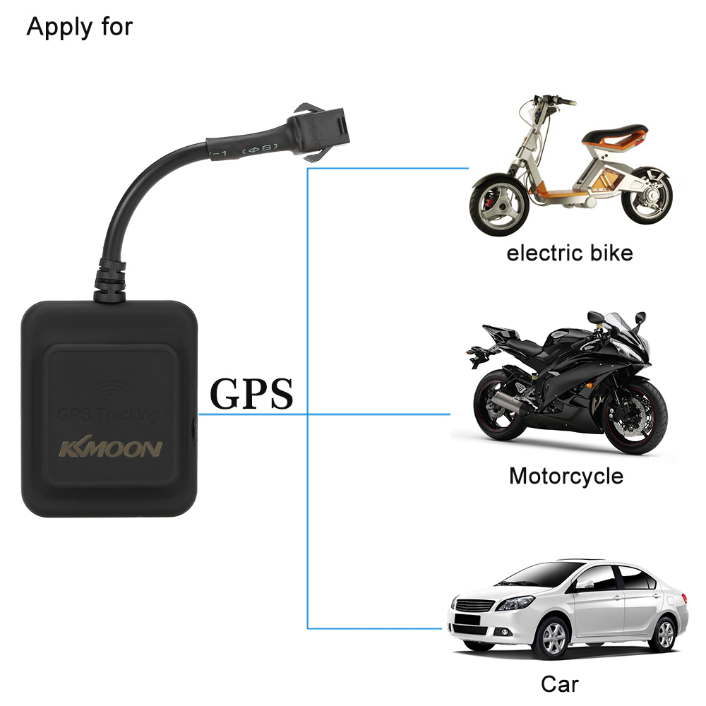kkmoon gps real time tracker car motorcycle electric bike. Black Bedroom Furniture Sets. Home Design Ideas