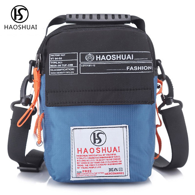 HaoShuai Men Cross Body Shoulder Bag Waterproof Messenger Bag Small Casual  Bag Men Brand New 39f72ba634