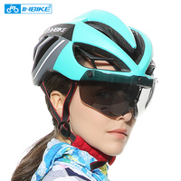 INBIKE Cycling Helmet Bicycle Helmet Magnetic Goggles Mountain Road Bike Helmets Sunglasses Cycling Glasses 3 Lens