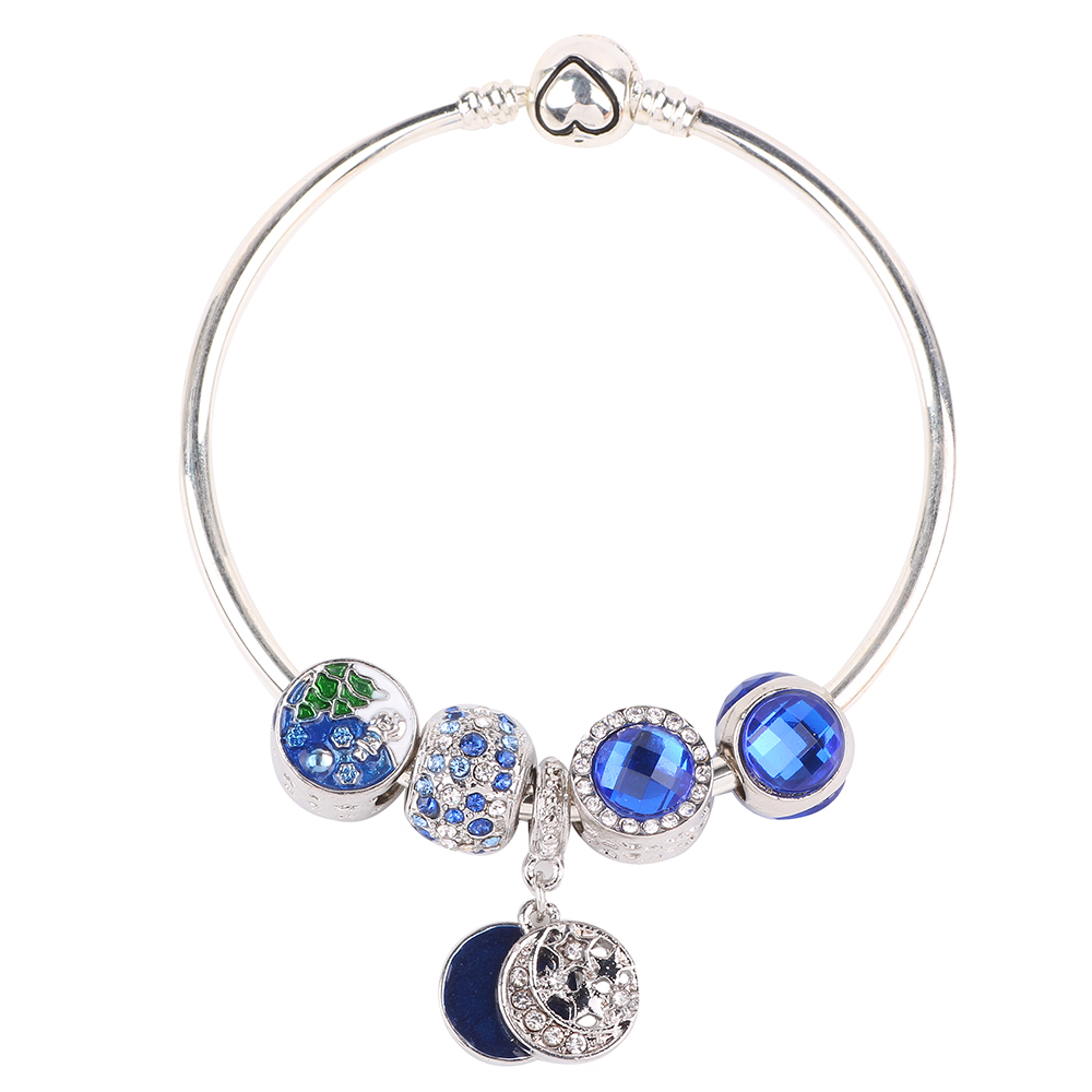 Couqcy Royal Blue Series DIY High Quality Gift for Women Bracelet Fashion European Trends Jewelry