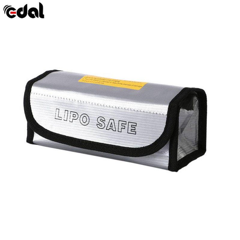 EDAL High Quality LiPo Battery Safety Fireproof Explosionproof Bag Safe Guard Charge Sack Glass Fiber 18.5X7.5X6 CM