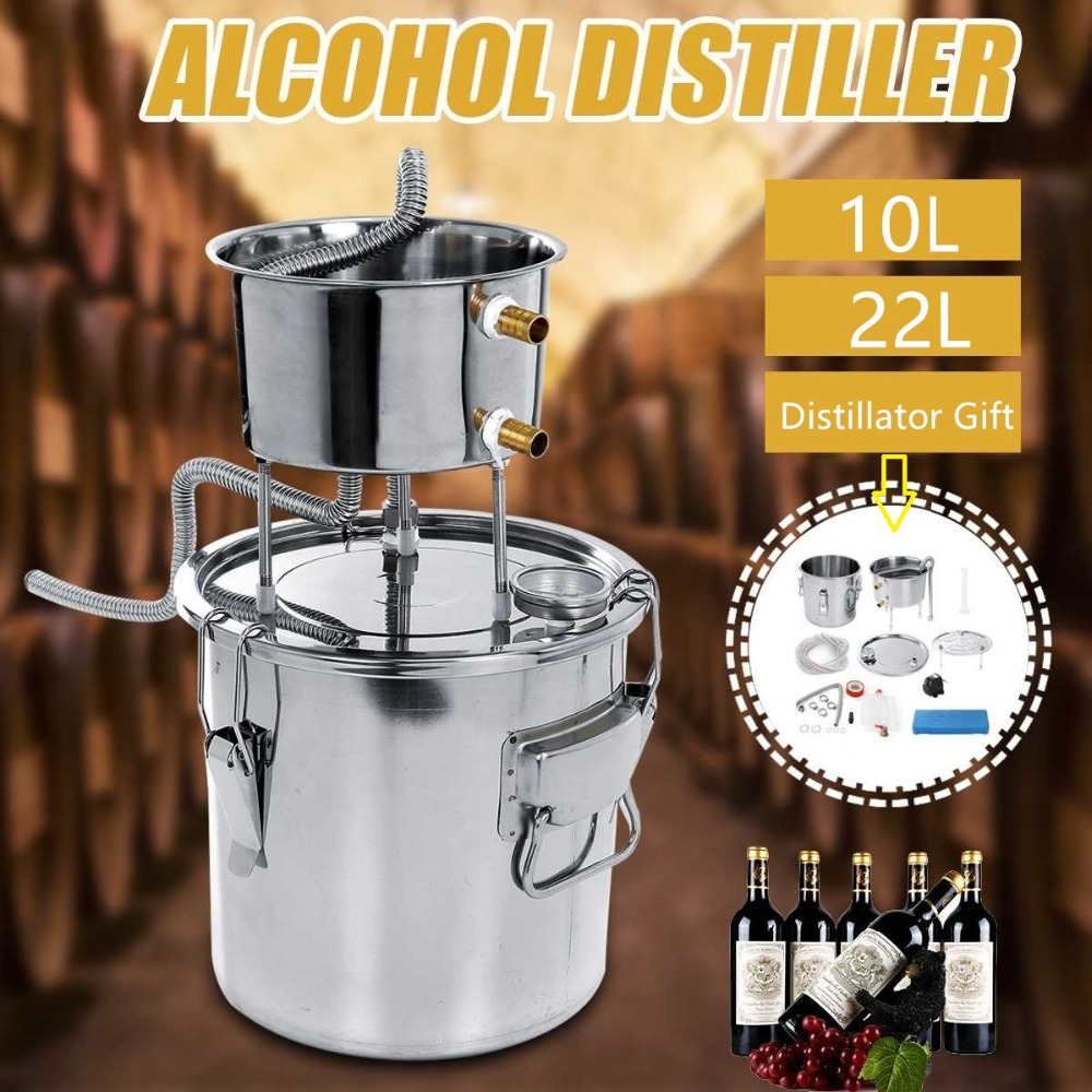 10 22 35L stainless steel mini household distilled water pure dew liquor brewing equipment fermenter beer