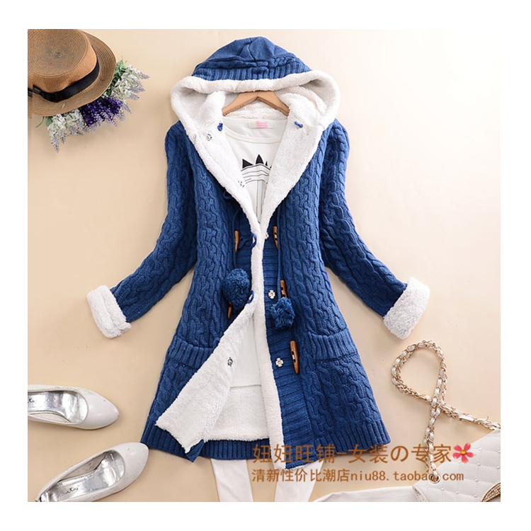 New arrival Girl Sweater Coat Winter 2019 Autumn Casual Solid Hooded - Women's Clothing - Photo 4