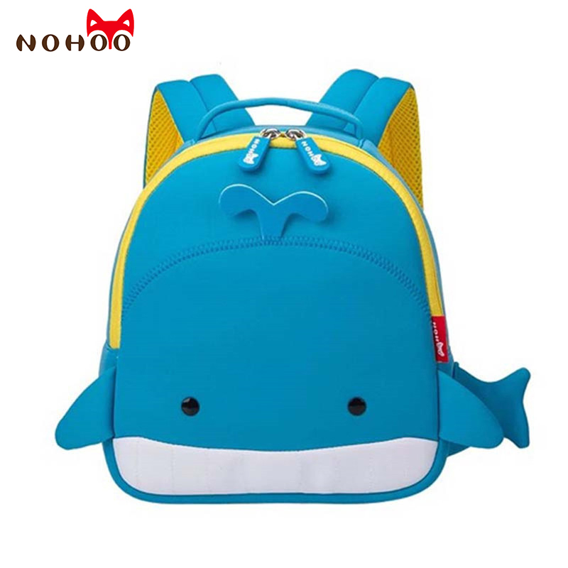 829011b45210 Best buy NOHOO Children Cartoon Whale School Bags Neoprene Fashion Kids  Baby Backpack Waterproof Schoolbags for Boys Girls Top quality FF online  cheap