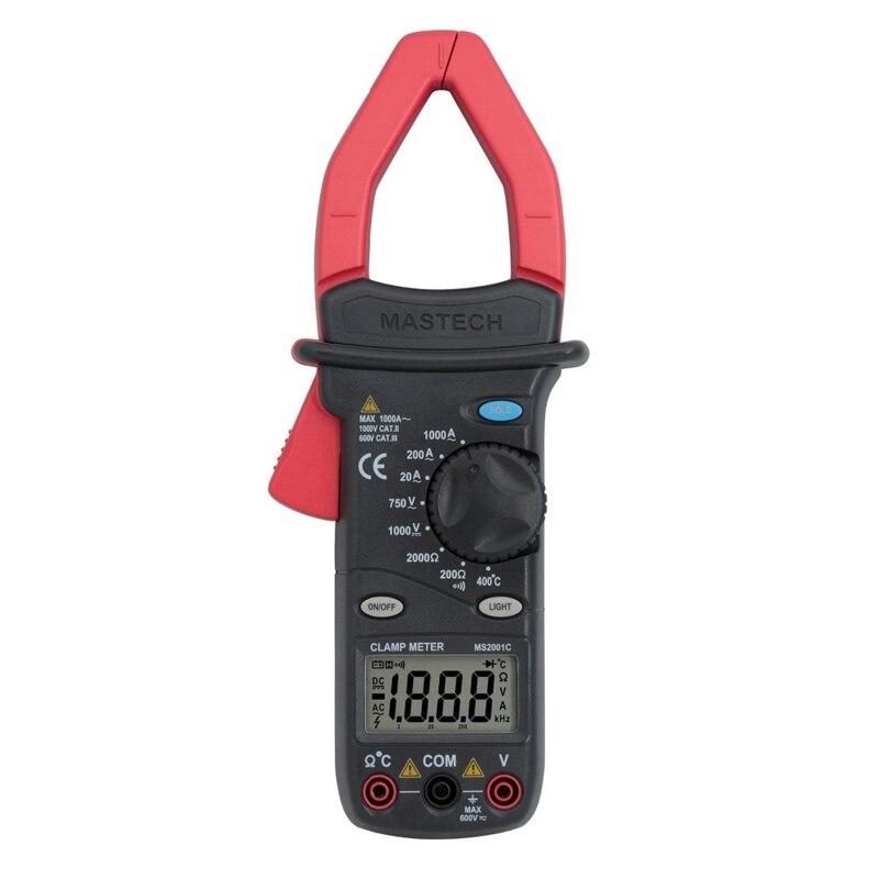 MASTECH MS2001C Digital Clamp Meter Multimeter AC DC Voltage Current Diode Resistance Measurement  цены