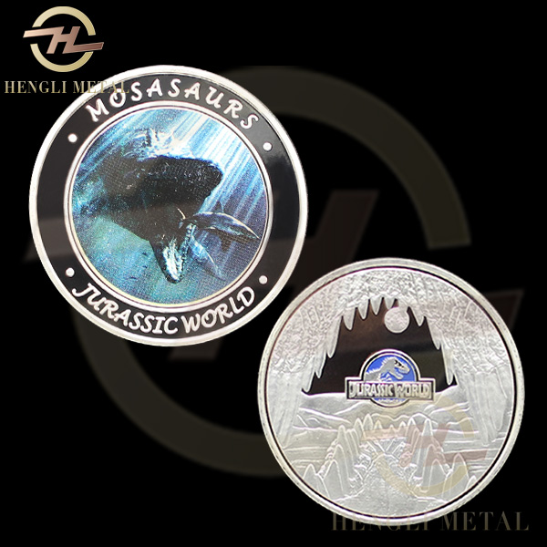 100 pcs/lot FAST DELIVERY <4-8 Days To Europe> American Hollywood Movie Jurassic Park Dinosaurs 1 OZ Silver Jurassic World Coins